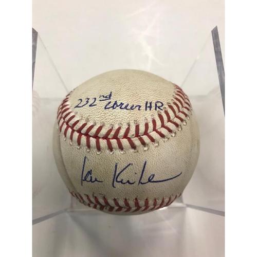 Photo of Autographed Player Collected Baseball: Ian Kinsler 232nd Career Home Run