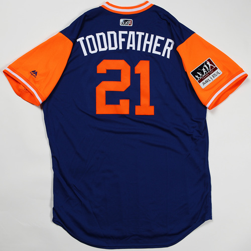 "Photo of Todd ""Toddfather"" Frazier New York Mets Game-Used Jersey 2018 Players' Weekend Jersey"