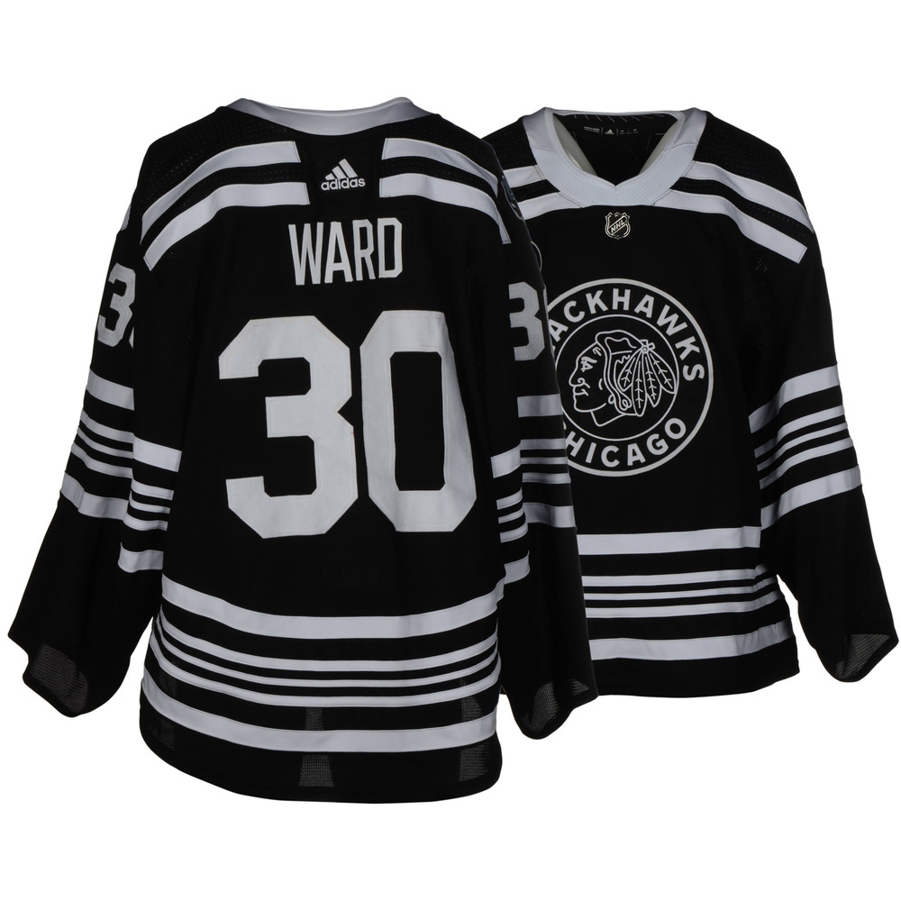 Cam Ward Chicago Blackhawks Game-Worn 2019 NHL Winter Classic Jersey