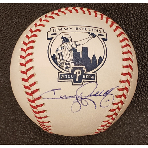 Photo of Jimmy Rollins Autographed Baseball