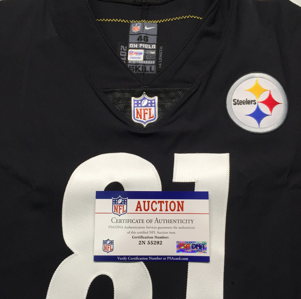 on sale 2fc58 3a627 NFL Auction | STS - Steelers Jesse James Game issued Jersey ...