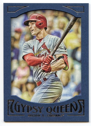 Photo of 2016 Topps Gypsy Queen Framed Blue #39 Randal Grichuk