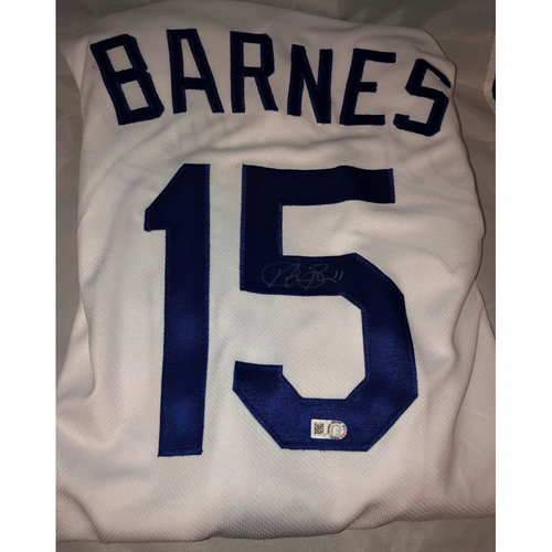 Photo of Austin Barnes Authentic Autographed Los Angeles Dodgers Jersey