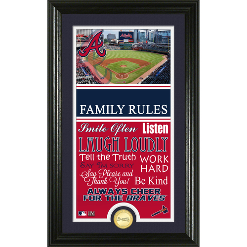 Photo of Atlanta Braves Personalized Family Rules Photo Mint