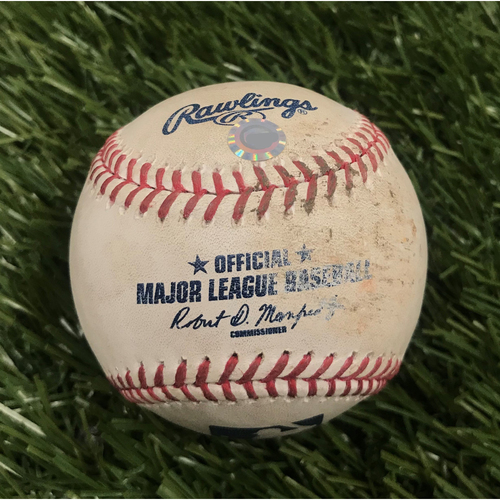 Photo of Game-Used Baseball from May 11, 2016 - Max Scherzer 20 Strikeouts - Pitcher - Jordan Zimmermann, Batter - Daniel Espinosa Foul