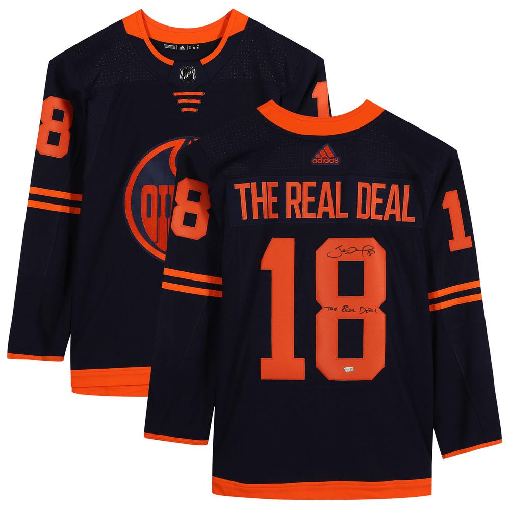 James Neal Edmonton Oilers Autographed Navy Alternate Adidas Authentic