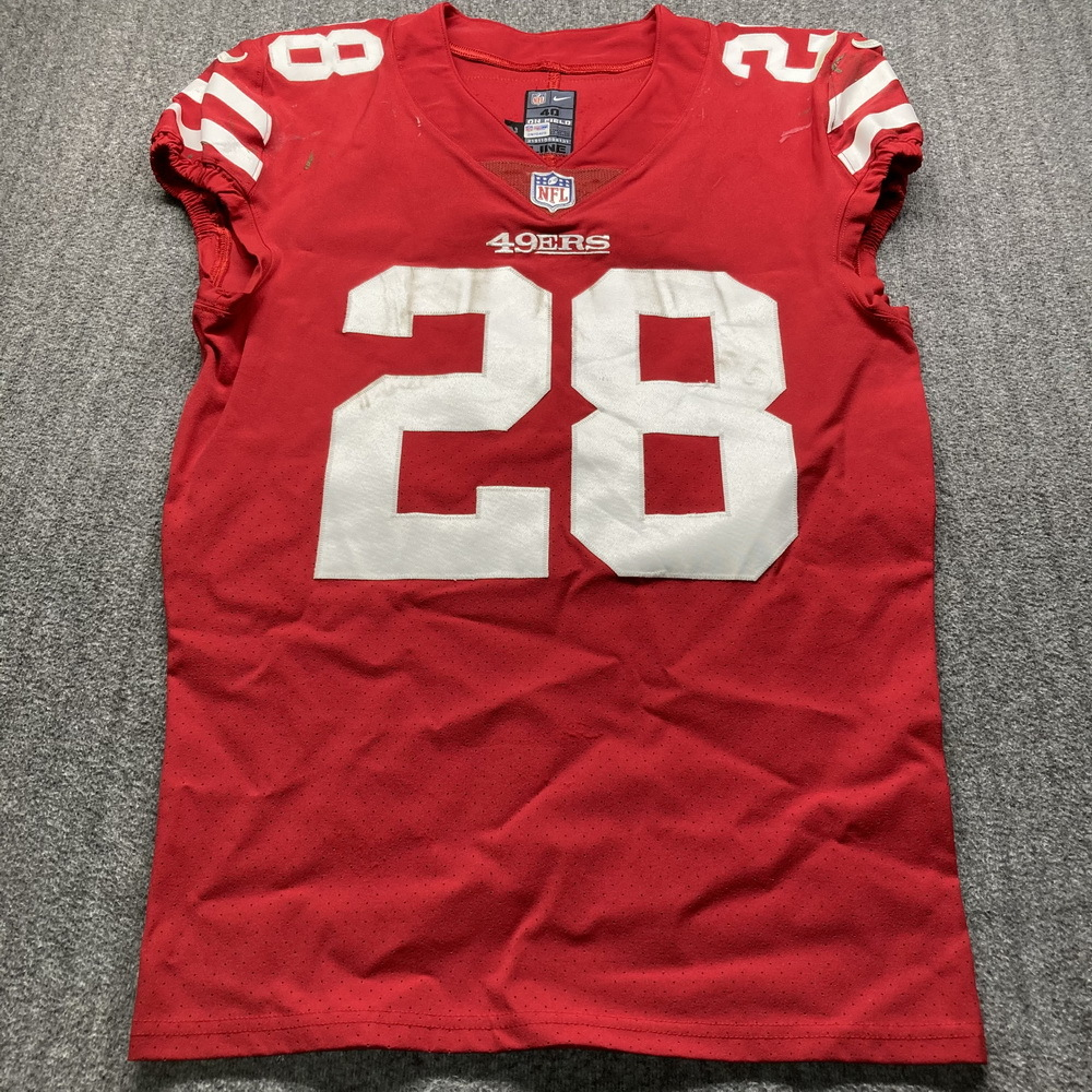 NFL Auction | STS - 49ers Jerick McKinnon Game Used Jersey (11/5 ...