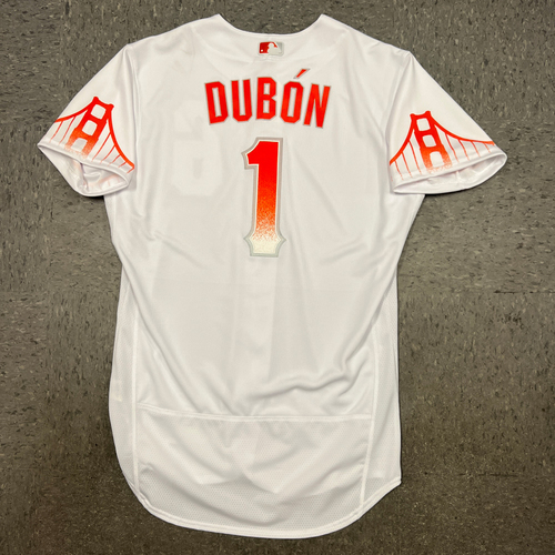 Photo of 2021 Team Issued City Connect Jersey - #1 Mauricio Dubon - Size 44