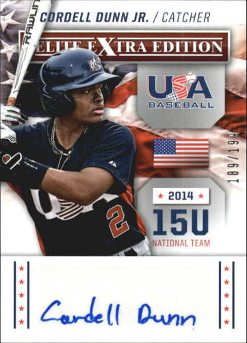 Photo of 2014 Elite Extra Edition USA Baseball 15U Signatures #19 Cordell Dunn Jr.