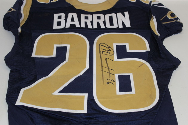 NFL Auction | BCA - RAMS MARK BARRON GAME WORN AND SIGNED RAMS ...