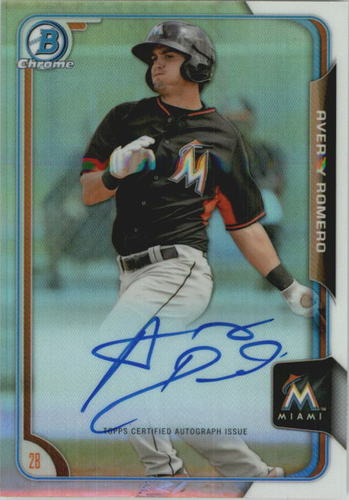 Photo of 2015 Bowman Chrome Prospect Autographs Refractors #BCAPAVR Avery Romero