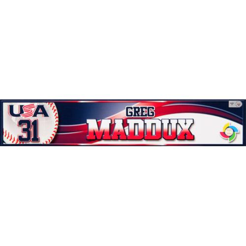 Photo of 2013 WBC: USA Game-Used Locker Name Plate - #31 Greg Maddux