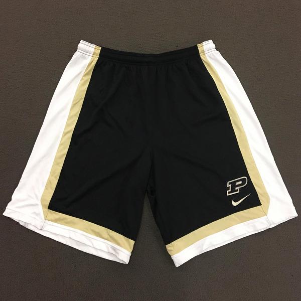Photo of Purdue Men's Basketball Play Hard Nike Shorts XXL Black Shorts with White Side Stripe
