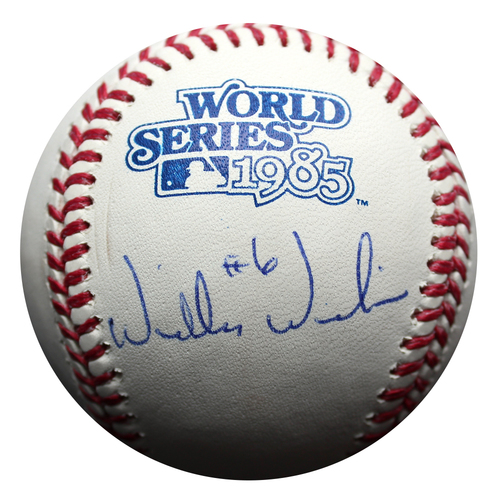 Photo of Autographed Baseball: Willie Wilson 1985 World Series