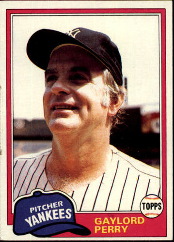 Photo of 1981 Topps #582 Gaylord Perry -- Hall of Fame Class of 1991