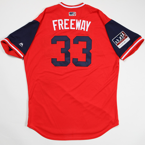 "Photo of Tyson ""Freeway"" Ross St. Louis Cardinals Game-Used 2018 Players' Weekend Jersey"