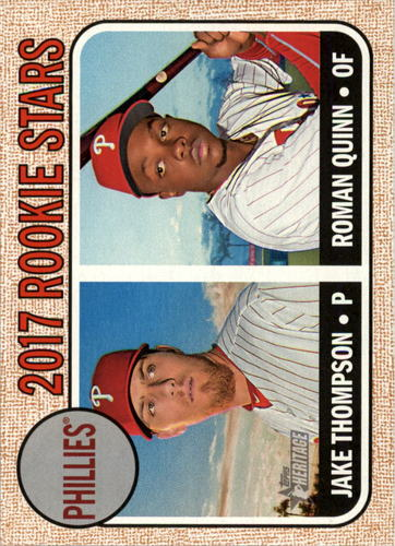 Photo of 2017 Topps Heritage #275 Roman Quinn RC/Jake Thompson Rookie Card