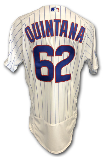 Photo of Jose Quintana Team Issued Jersey -- 2018 Postseason Wild Card