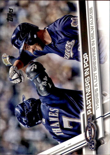 Photo of 2017 Topps Update #US206 Partners in Pop/Eric Thames/Ryan Braun