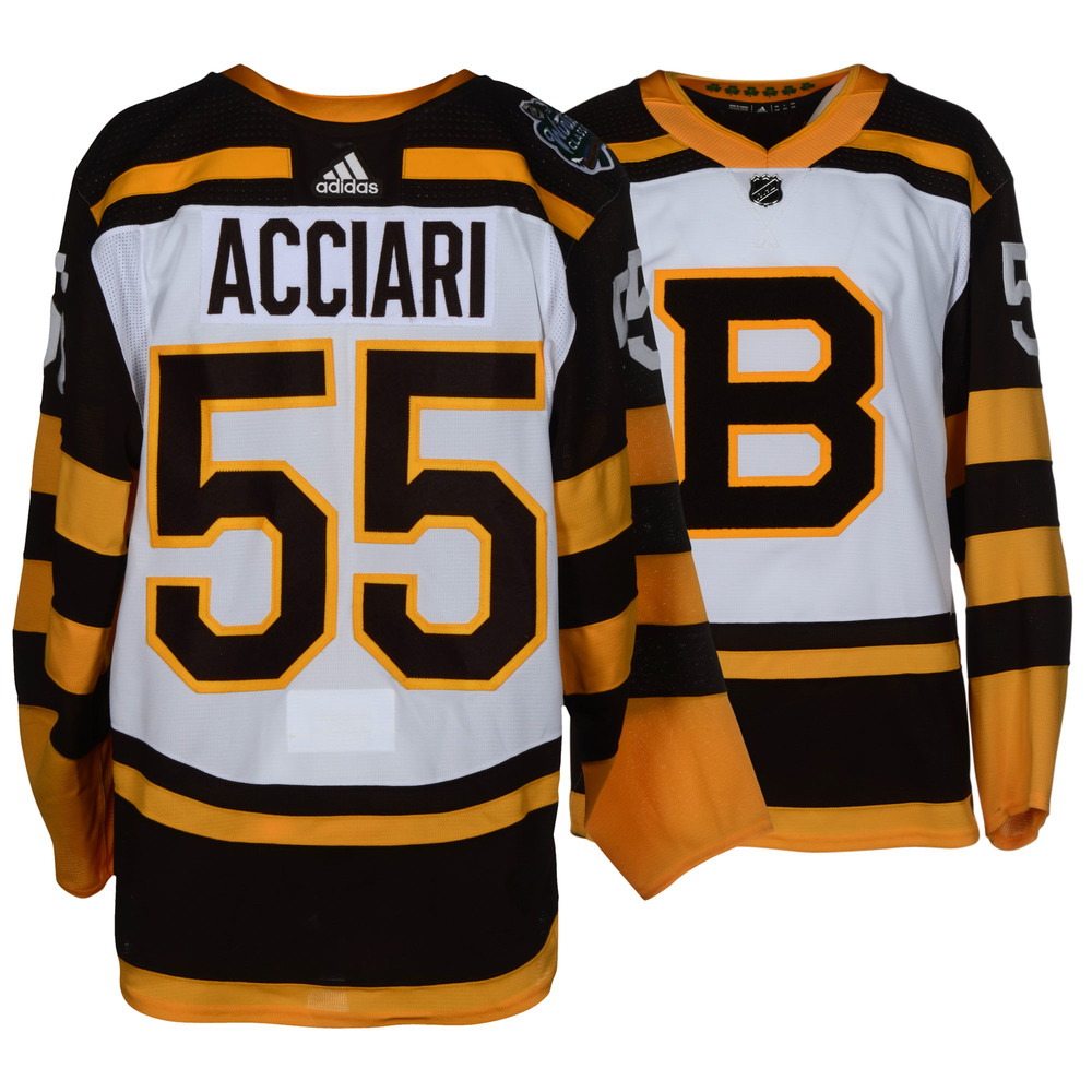 Noel Acciari Boston Bruins Game-Worn 2019 NHL Winter Classic Jersey