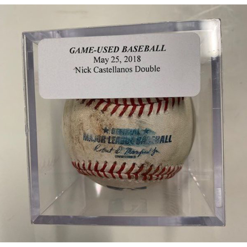 Game-Used Baseball: Nicholas Castellanos Double