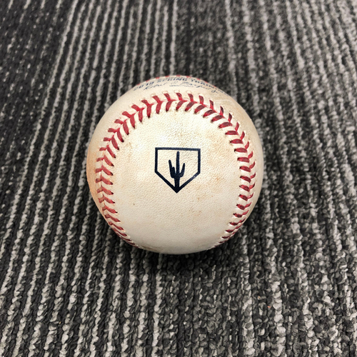 Photo of 2019 Spring Training Game Used Baseball vs. Chicago White Sox - T-6: Conner Menez to Yoan Moncada - Pitch in the Dirt