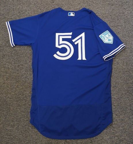 Photo of Authenticated Game Used 2019 Spring Training Jersey - #51 Ken Giles (Mar 17: 1 IP, 1 Hit, 0 ER, 1 K. Mar 25: 1 IP, 0 ER). Size 44
