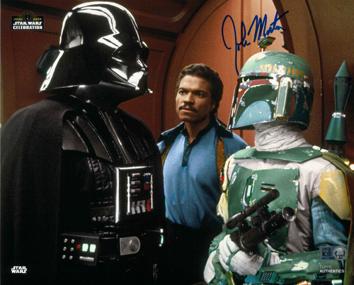 John Morton As Boba Fett 8X10 AUTOGRAPHED IN 'BLUE' INK PHOTO