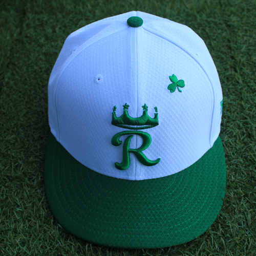Photo of Team-Issued Saint Patrick's Day Cap: Kevin McCarthy (Size 7 1/4 - SEA @ KC - 3/17/19)