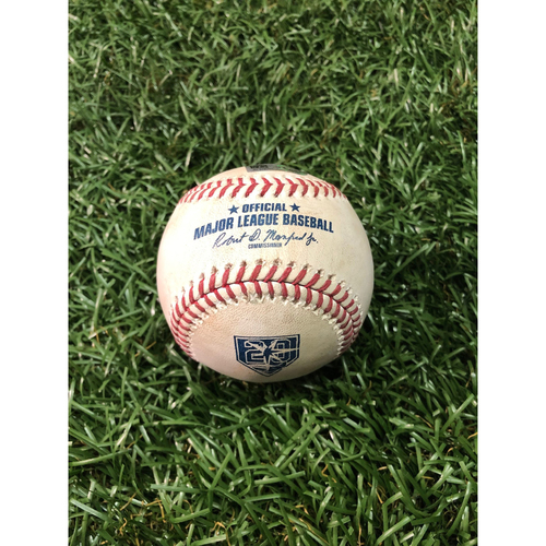 Photo of 20th Anniversary Game Used Autographed Baseball: Brandon Lowe MLB DEBUT - August 5, 2018 v CWS