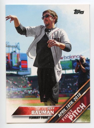 Photo of 2016 Topps Update First Pitch #FP1 Jeff Bauman