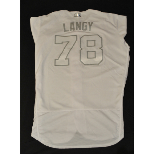 "Photo of Eric ""LANGY"" Langill New York Mets Game-Used 2019 Players' Weekend Jersey"