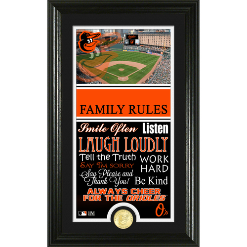 Photo of Baltimore Orioles Personalized Family Rules Photo Mint