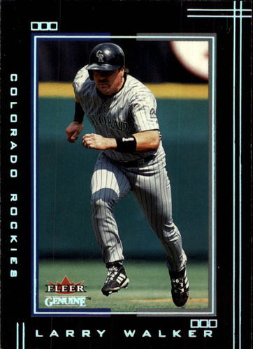 Photo of 2002 Fleer Genuine #82 Larry Walker