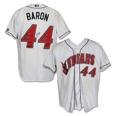 #44 Steve Baron Autographed Game Worn Home White Jersey