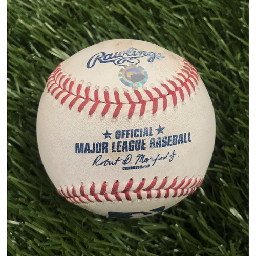 Photo of Game-Used Baseball from May 11, 2016 - Max Scherzer 20 Strikeouts - Pitcher - Jordan Zimmermann, Batter - Jayson Werth Ball in Dirt