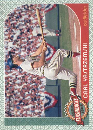 Photo of 2017 Topps Heritage Baseball Flashbacks #BFCY Carl Yastrzemski