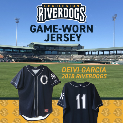 Charleston RiverDogs Game-Worn Jersey: Deivi Garcia