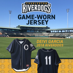Image of Charleston RiverDogs Game-Worn Jersey: Deivi Garcia
