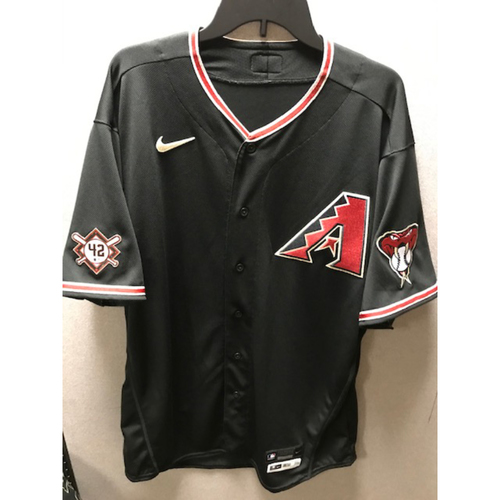 Photo of 2020 Madison Bumgarner Team-Issued Jackie Robinson Day Jersey