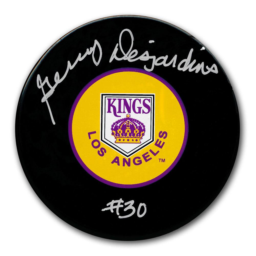 Gerry Desjardins Los Angeles Kings Autographed Puck