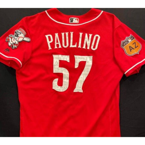 Photo of PAULINO -- Authentic Reds Jersey -- $1 Jersey Auction -- $5 Shipping -- Size 42 (Not MLB Authenticated)