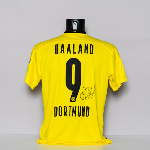 Photo of 20/21 Borussia Dortmund Jersey - signed by Erling Braut Haaland