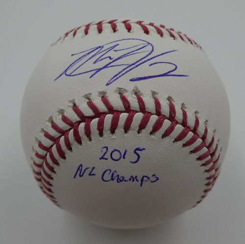"Photo of Matt Harvey ""2015 NL Champs"" Autographed Baseball"
