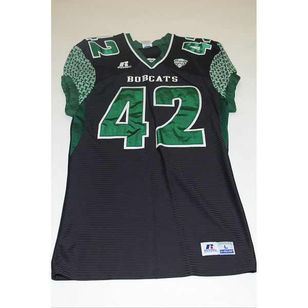 Photo of # 42 - Official OHIO BOBCATS Game Worn Football Jersey (2011) - SIZE LARGE