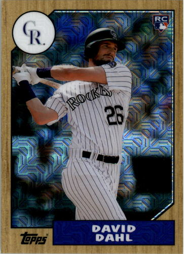 Photo of 2017 Topps '87 Topps Silver Pack Chrome #87DD David Dahl