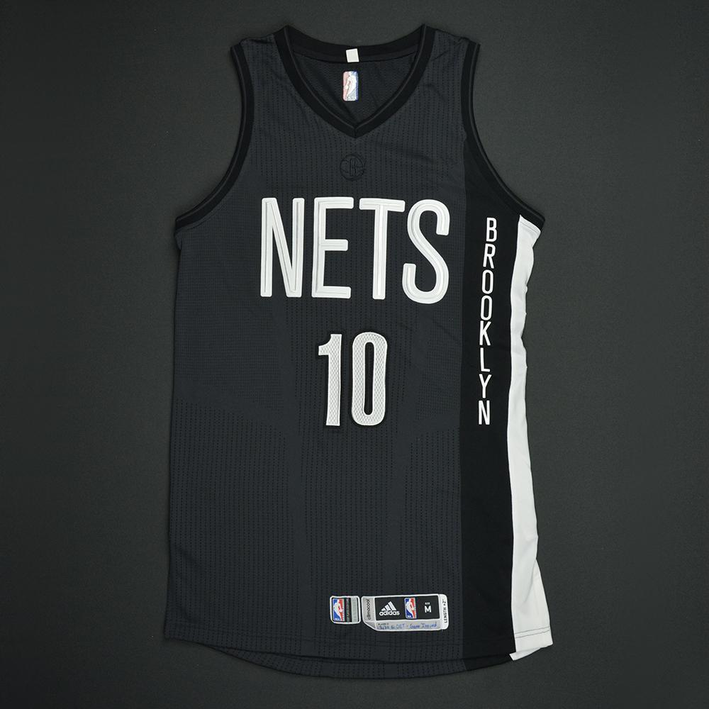 ... authentic archie goodwin brooklyn nets game worn black alternate jersey  dressed did b883e c9715 11b275d31