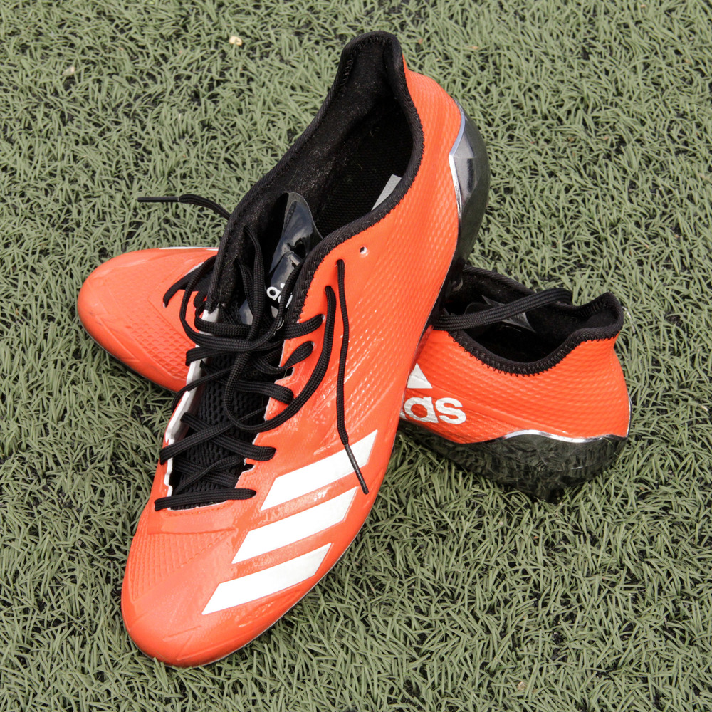 Mark Walton Cincinnati Bengals Event-Worn 2018 NFLPA Rookie Premiere Orange Adidas Cleats