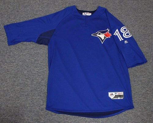 Photo of Authenticated Team Issued Batting Practice Jersey - #18 Curtis Granderson. Size L.