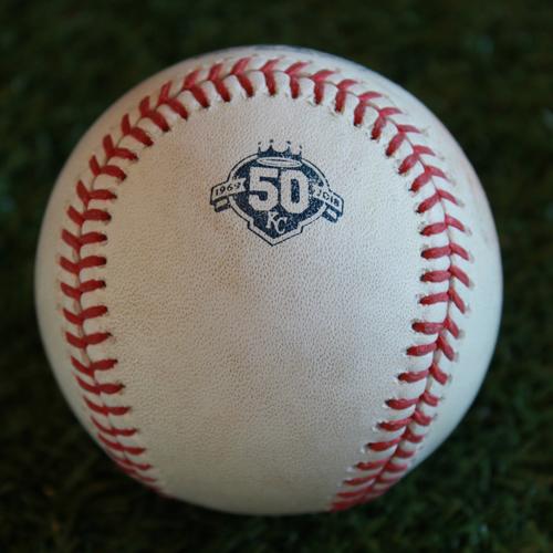 Photo of Game-Used Baseball: James McCann 352nd Career Hit (DET @ KC - 8/28/18)